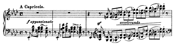 Concert Etude - Il Lamento  No. 1  in A-flat Major by Liszt piano sheet music