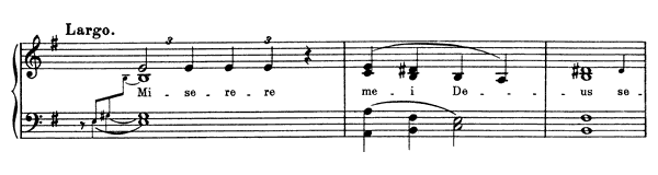 Miserere, after Palestrina  No. 8  in E Major by Liszt piano sheet music