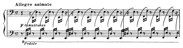 Hungarian Rhapsody (Rákoczy March)  No. 15  in A Minor by Liszt piano sheet music