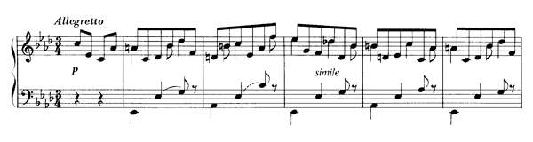Ländler in A-flat  S. 211  in A-flat Major by Liszt piano sheet music