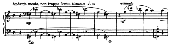 La Lugubre Gondola II  S. 200 No. 2  by Liszt piano sheet music