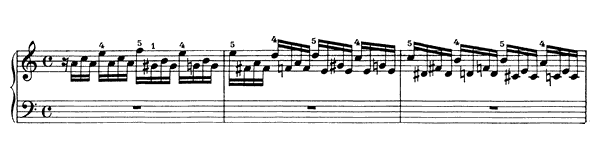 Bach: Prelude & Fugue for Organ, BWV 543  S. 462 No. 1  in A Minor by Liszt piano sheet music