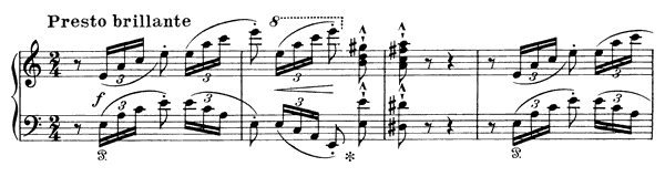 Rossini: La Danza, Neapolitan Tarantella   in A Minor by Liszt piano sheet music