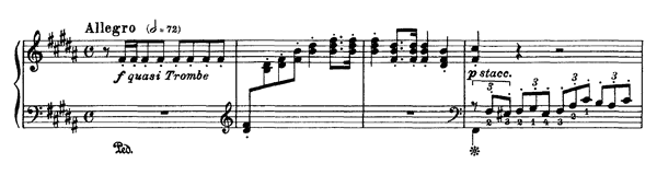 Wagner: Arrival of the Guests at Wartburg  S. 445 No. 1  in B Major by Liszt piano sheet music