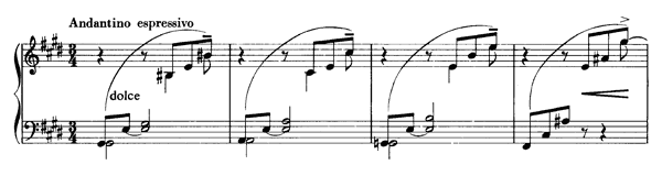 Valse Mélancolique  S. 214 No. 2  in E Major by Liszt piano sheet music