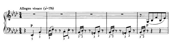 Valse Oubliée  S. 215 No. 2  in A-flat Major by Liszt piano sheet music