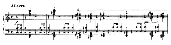 Allegro  No. 2 S. 159  by Liszt piano sheet music