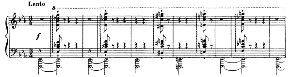 Lento  No. 1 S. 159  by Liszt piano sheet music