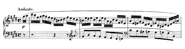 Andante Op. 16 No. 3  in E Major by Mendelssohn piano sheet music