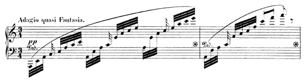 Caprice Op. 33 No. 1  in A Minor by Mendelssohn piano sheet music