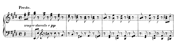 Light and Airy Op. 7 No. 7  in E Major by Mendelssohn piano sheet music