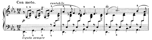 The Evening Star Op. 38 No. 1  in E-flat Major by Mendelssohn piano sheet music