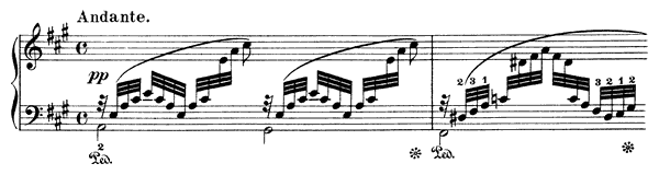 Hope Op. 38 No. 4  in A Major by Mendelssohn piano sheet music