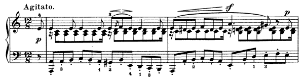 Passion Op. 38 No. 5  in A Minor by Mendelssohn piano sheet music