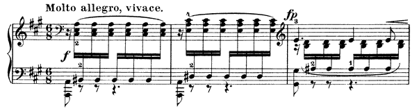 The Flight Op. 53 No. 6  in A Major by Mendelssohn piano sheet music