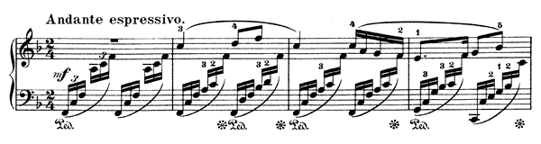 Reverie Op. 85 No. 1  in F Major by Mendelssohn piano sheet music