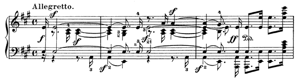 The Return Op. 85 No. 5  in A Major by Mendelssohn piano sheet music