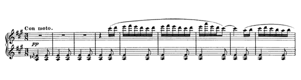 Spanish Dance Op. 12 No. 3  in A Major by Moszkowski piano sheet music