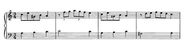 Minore in A minor  No. 10  in A Minor by Mozart piano sheet music