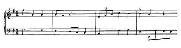 Minuet in G  No. 25  in G Major by Mozart piano sheet music