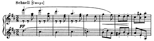 A Child's Scherzo - Second Version   in D Major by Mussorgsky piano sheet music