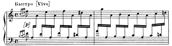 First Punishment   in A Minor by Mussorgsky piano sheet music