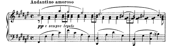 Passionate Impromptu - Second Version   in F-sharp Major by Mussorgsky piano sheet music