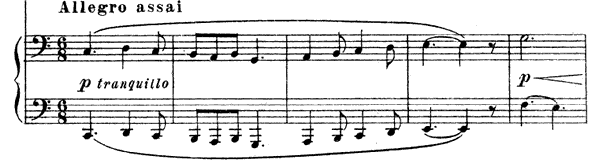 Sonata in C for four hands   in C Major by Mussorgsky piano sheet music