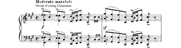 Fair Scene - from The Fair at Sorochintsi   by Mussorgsky piano sheet music
