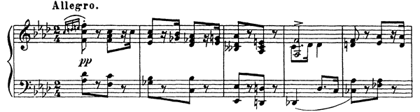 March Op. 12 No. 1  in F Minor by Prokofiev piano sheet music