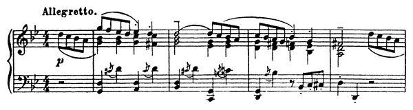 Gavotte Op. 12 No. 2  in G Minor by Prokofiev piano sheet music