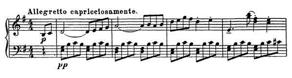 Capricio Op. 12 No. 5  in E Minor by Prokofiev piano sheet music