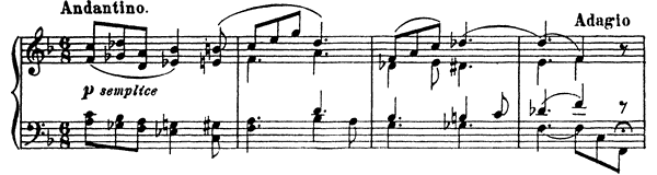 Legend Op. 12 No. 6  in F Major by Prokofiev piano sheet music