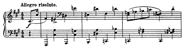 Allemande Op. 12 No. 8  in F-sharp Minor by Prokofiev piano sheet music