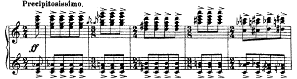 Sarcasm Op. 17 No. 5  by Prokofiev piano sheet music
