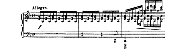 Etude Op. 2 No. 1  in D Minor by Prokofiev piano sheet music