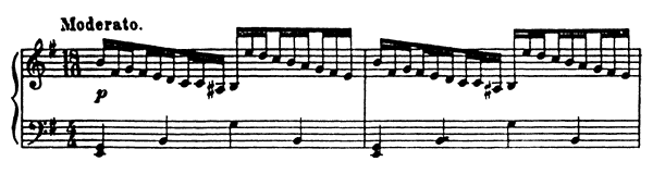 Etude Op. 2 No. 2  in E Minor by Prokofiev piano sheet music