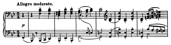 Minuet Op. 32 No. 2  in B-flat Major by Prokofiev piano sheet music