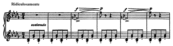 Vision Fugitive Op. 22 No. 10  by Prokofiev piano sheet music