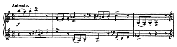 Vision Fugitive Op. 22 No. 4  by Prokofiev piano sheet music