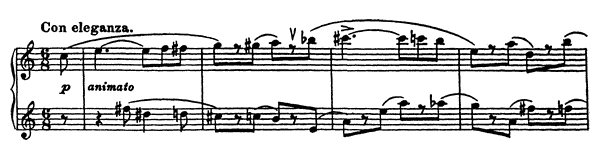 Vision Fugitive Op. 22 No. 6  by Prokofiev piano sheet music