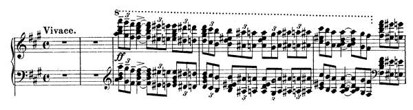 Piano Concerto 1 Op. 1  in F-sharp Minor by Rachmaninoff piano sheet music