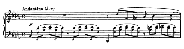 Moment Musical Op. 16 No. 1  in B-flat Minor by Rachmaninoff piano sheet music