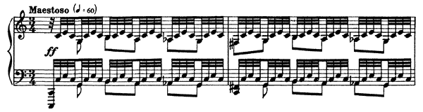 piano sheet music of Moment Musical