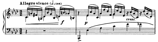 Prelude Op. 23 No. 8  in A-flat Major by Rachmaninoff piano sheet music