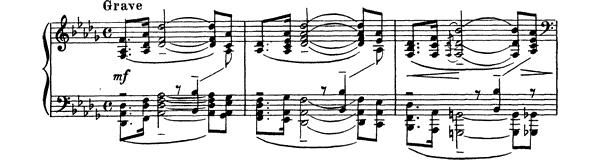 Prelude Op. 32 No. 13  in D-flat Major by Rachmaninoff piano sheet music