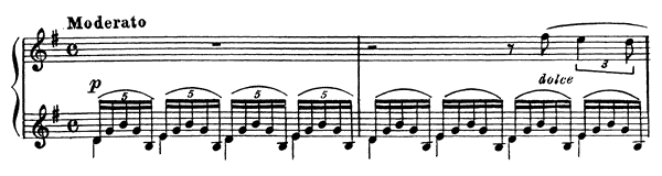 Prelude Op. 32 No. 5  in G Major by Rachmaninoff piano sheet music