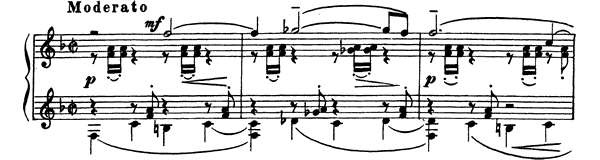 Prelude Op. 32 No. 7  in F Major by Rachmaninoff piano sheet music