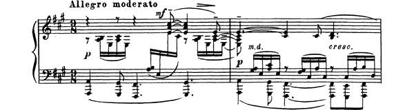 Prelude Op. 32 No. 9  in A Major by Rachmaninoff piano sheet music