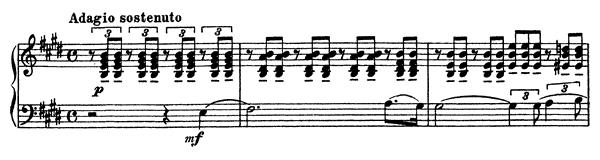 Mélodie Op. 3 No. 3  in E Major by Rachmaninoff piano sheet music